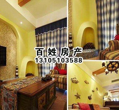 天津装修的客厅线条简单且修边浑圆的木质家具